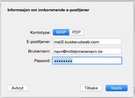 Oppsett av Mac Mail